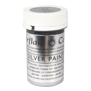 Sugarflair Edible Paint - Silver (20g)