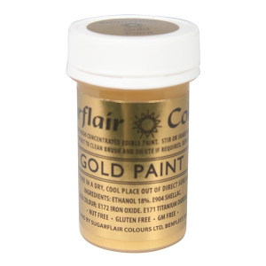 Sugarflair Edible Paint - Gold (20g)