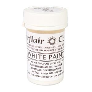 Sugarflair Edible Paint - White (20g)