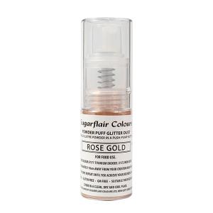 Sugarflair Powder Puff Glitter Pump Spray - Rose Gold (10g)