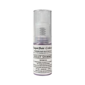 Sugarflair Powder Puff Glitter Pump Spray - Violet Shimmer (10g)