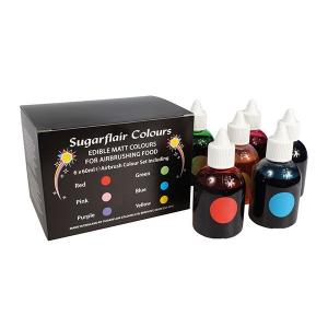 Sugarflair Airbrush Colour Collection - Matt (Pack of 6 x 60ml)