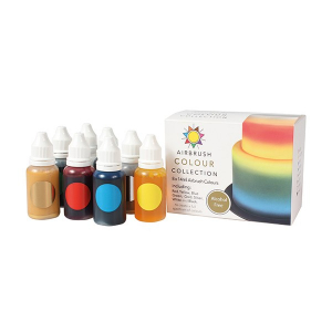 Sugarflair Airbrush Colour Collection - Alcohol Free (Pack of 8 x 14ml)