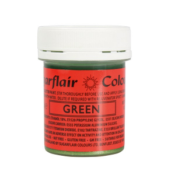 Sugarflair Edible Glitter Paint - Green (35g)