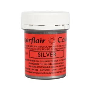 Sugarflair Edible Glitter Paint - Silver (35g)