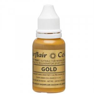 Sugarflair Sugartint Droplet Colour - Gold (14ml)
