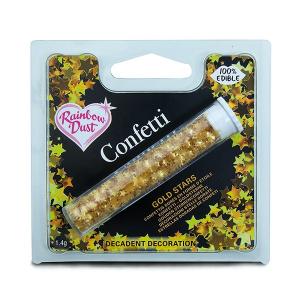 Rainbow Dust Edible Confetti Stars - Gold