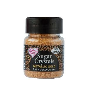 Rainbow Dust Sugar Crystals - Metallic Gold (50g)