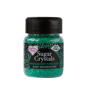 Rainbow Dust Sugar Crystals - Pearlescent Turquoise (50g)
