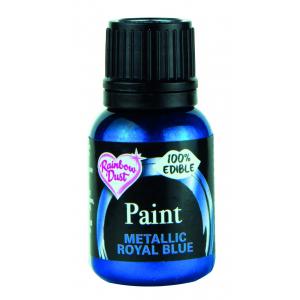 Rainbow Metallic Food Paint - Royal Blue (25ml)