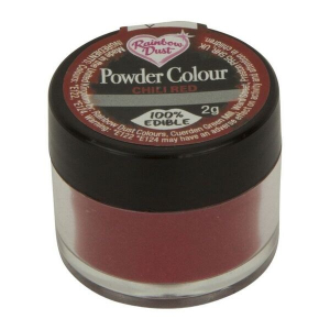 Rainbow Dust Powder Colour - Chilli Red (2g)
