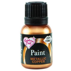 Rainbow Metallic Food Paint - Copper (25ml)
