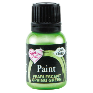 Rainbow Pearlescent Food Paint - Spring Green (25ml)