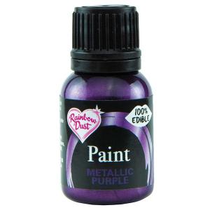 Rainbow Metallic Food Paint - Purple (25ml)