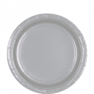 Amscan Party Plates - Silver (Pack of 20)