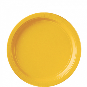Amscan Party Plates - Yellow (Pack of 20)