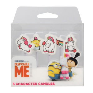Culpitt Charater Candles - Despicable Me - Fluffy Unicorn (Pack of 5)