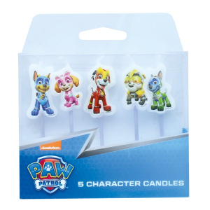 Culpitt Charater Candles - Paw Patrol - Mighty Pups (Pack of 5)