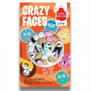 Cake Décor Crazy Faces (22g)