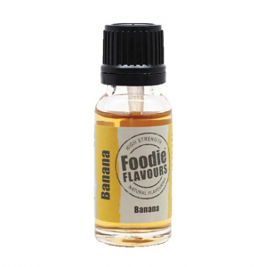 Foodie Flavours - High Strength Flavouring - Natural Banana (15ml)