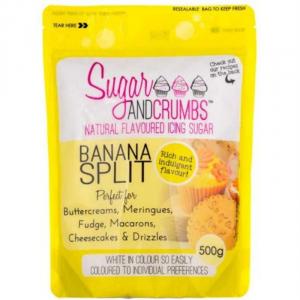 Sugar & Crumbs Natural Flavoured Icing Sugar - Banana Split (500g)