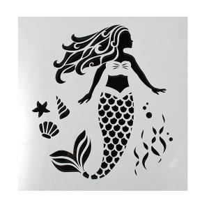 Cake Star Stencil - Mermaid