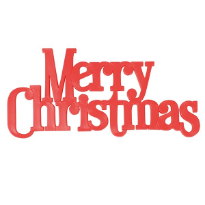 Culpitt Decoration / Large Motto - Merry Christmas - Red (Pack of 24)