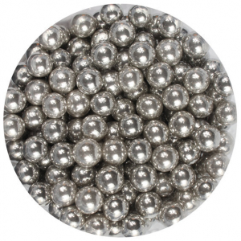 Purple Cupcakes Bulk 6mm Sugar Pearls - Silver (1kg)