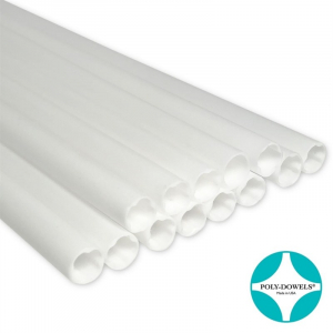 """Poly-Dowels® Hollow Dowel - White - 16"""""""