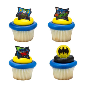 DecoPac Cake Ring Decoration - Batman™ - Pow! Whooshhh! (Pack of 144)