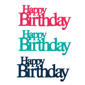 DecoPac LayOns - Classy Greetings - Happy Birthday (Pack of 24)