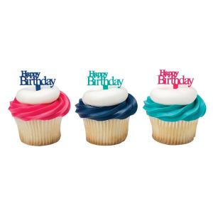 DecoPac Cake Pick Decoration - Happy Birthday (Pack of 144)
