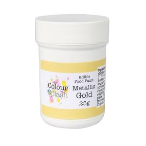 Colour Splash Edible Food Paint - Metallic Gold (25g)