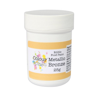Colour Splash Edible Food Paint - Metallic Bronze (25g)