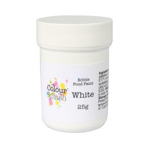 Colour Splash Edible Food Paint - Matt White (25g)