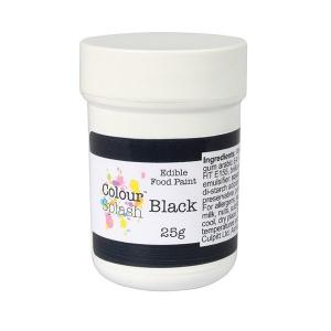 Colour Splash Edible Food Paint - Matt Black (25g)