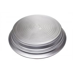 "Napier Cake Base Stand - Round - Silver Satin - 14"""