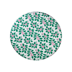 """Christmas Double Thick Cake Card - Round - 6"""""""