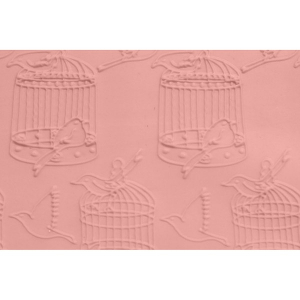 FMM Embossed Rolling Pin - Birdcage