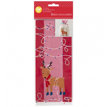 Wilton Treat Bags - Festive Reindeer (Pack of 20)
