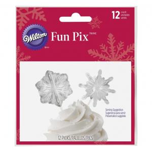 Wilton Cupcake Toppers - Fun Pix Snowflake (Pack of 12)