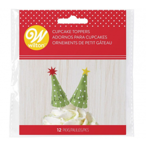 Wilton Cupcake Toppers - Christmas Tree (Pack of 12)