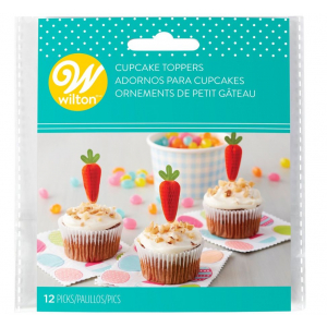 Wilton Cupcake Toppers - Carrots (Pack of 12)
