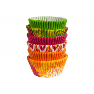 Wilton Baking Cases - Neon Floral (Pack of 150)