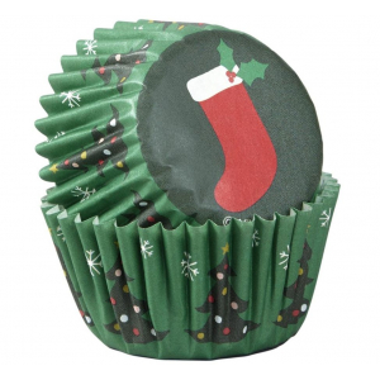 Wilton Mini Baking Cases - Christmas Stockings (Pack of 100)