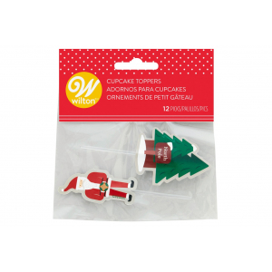 Wilton Cupcake Toppers - North Pole Santa (Pack of 12)
