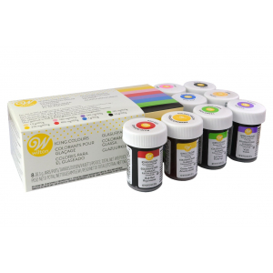 Wilton Icing Colours - (8 x 28g)