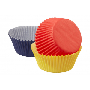Wilton Baking Cases - Primary Colours (Pack of 75)