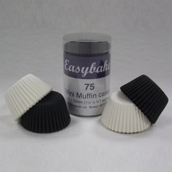 Easybake Mini Muffin Cases - Black and White (Pack of 75)