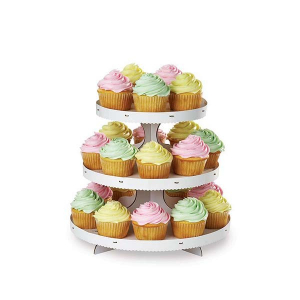 Wilton 3 Tier White Cupcake Stand (Holds 24 Cupcakes)